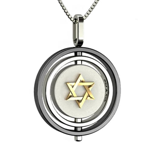 08963143f02 Pingente Estrela de Davi Ouro Amarelo e Prata - Colecao Masculino Equilíbrio