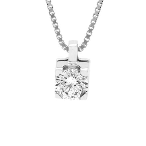 0a837f623ac36 Pingente Solitário Ouro Branco e 50 Pontos de Diamantes - Colecao Solitário