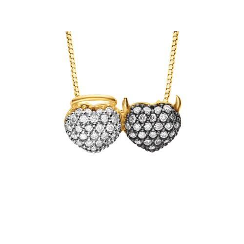 78040f17d56b8 Pingente Coração Ouro Amarelo e Diamantes - Colecao Amantes