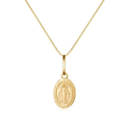 Pingente Nossa Sra das Graças Ouro Amarelo - Colecao Medalhas 3d591b270a