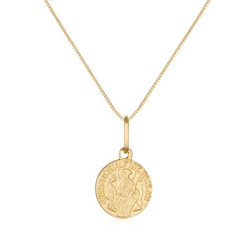 a59d34a6935f5 Pingente São Bento Ouro Amarelo - Colecao Medalhas