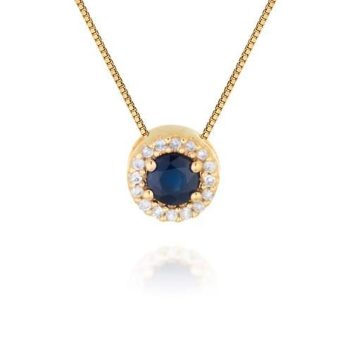 c36fbf91c59 Pingente Ouro Amarelo Diamantes e Safira Classic Oriental - Colecao Classic  Oriental