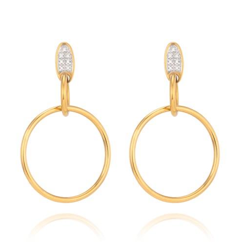 de759ad9d3194 Argola Ouro Amarelo Ouro Branco e Diamantes - Colecao Argolas