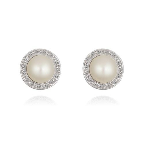 6f234ad12e79d Brinco Ouro Branco Pérolas e Diamantes - Colecao Nude