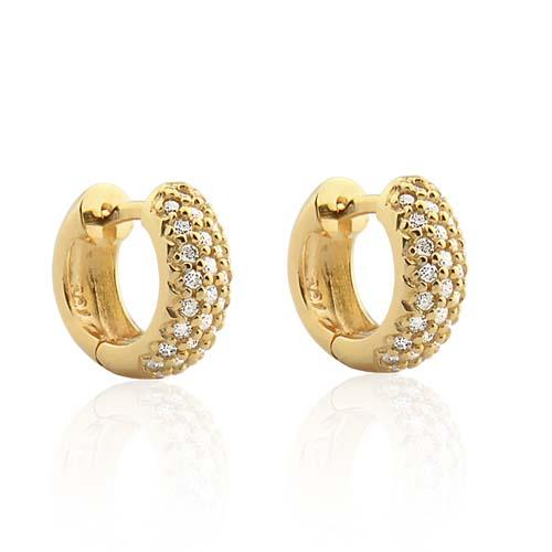 22af698186c Brinco Ouro Amarelo e Diamantes - Colecao Lumiere