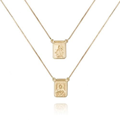 d663244fa96db Escapulário Ouro Amarelo - Colecao Medalhas