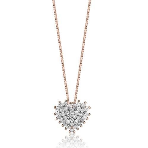 Colar Ouro Rosé e Diamantes - Colecao Spot 4f8a5d1a8b