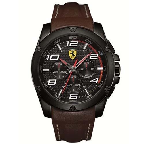f0d45709f52 Relógio Scuderia Ferrari Masculino Couro Marrom - 830029