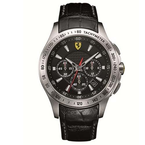 1c76c8226ea Relógio Scuderia Ferrari Masculino Couro Preto - 830039