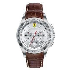 472a19bcbe0 Relógio Scuderia Ferrari Masculino Couro Marrom - 830044