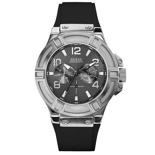 82595ef7e89e0 Relógio Guess Masculino Borracha Preta - W0247G4