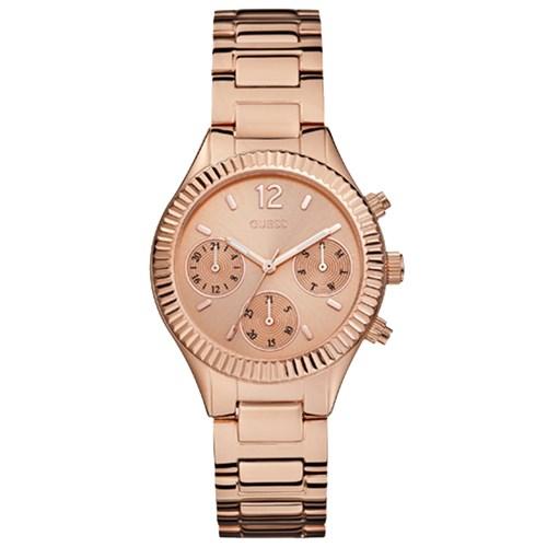 b58734ec42545 Relógio Guess Feminino Aço Rosé - W0323L3