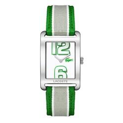 2b0ca94f290 Relógio Lacoste Masculino Nylon Branco e Verde - 2000696