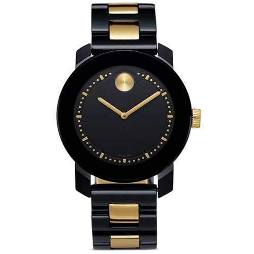 3013c29e1a9 Relógio Movado Feminino Cerâmica Preta e Dourada - 3600172