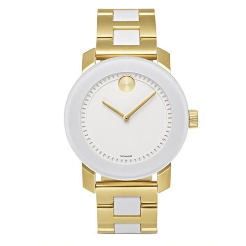 8dbf80d4402 Relógio Movado Feminino Aço Branco e Dourado - 3600163