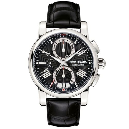 0b570624c99 Relógio Montblanc Masculino Couro Preto - 102377