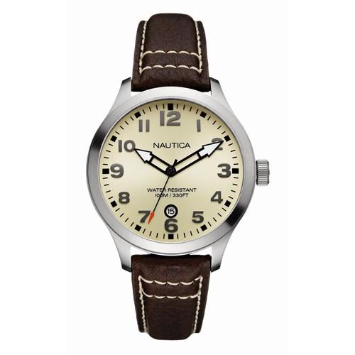 d2a51220311 Relógio Nautica Feminino Couro Marrom - A09559G