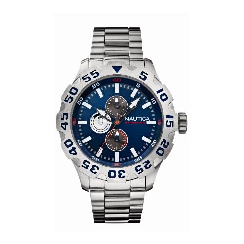 5ec560664a1 Relógio Nautica Masculino Aço - A20093G