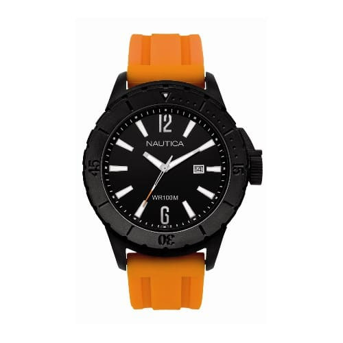 fa05e524f56 Relógio Nautica Masculino Resina Laranja - A15602G
