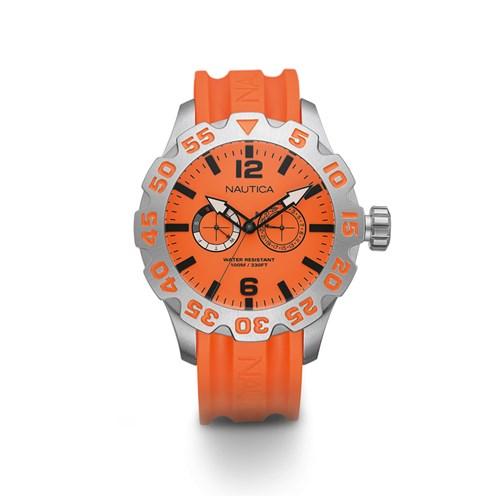 0713c714284 Relógio Nautica Masculino Resina Laranja - A16606G