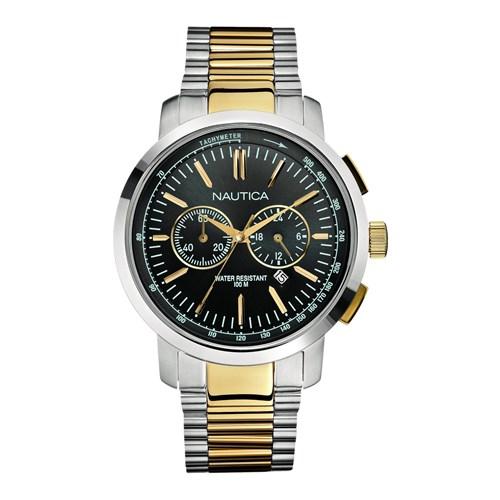 208c690c729 Relógio Nautica Masculino Aço Prateado e Dourado - A23601G