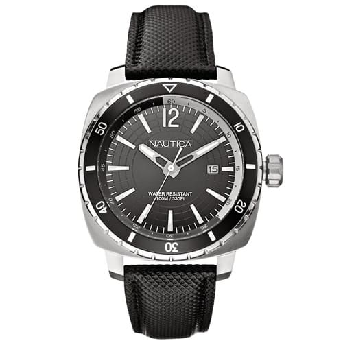 9467b8eb548 Relógio Nautica Masculino Couro Preto - A13651G
