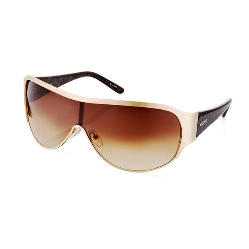 6ee14918e330f Óculos de Sol Máscara em Acetato Dourado e Preto