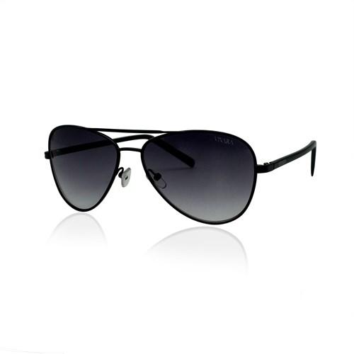 Óculos de Sol Aviador em Aço Preto deb5223975