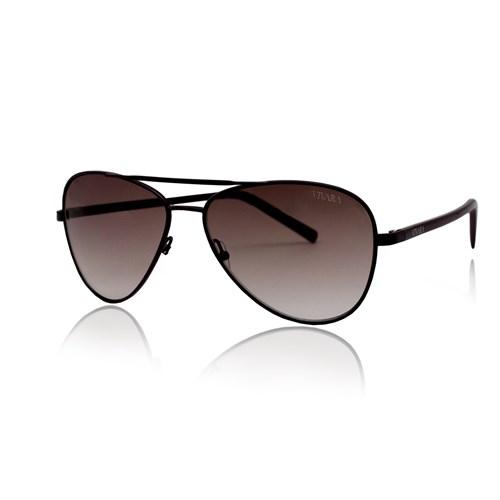 Óculos de Sol Aviador em Acetato Preto d0d070944c