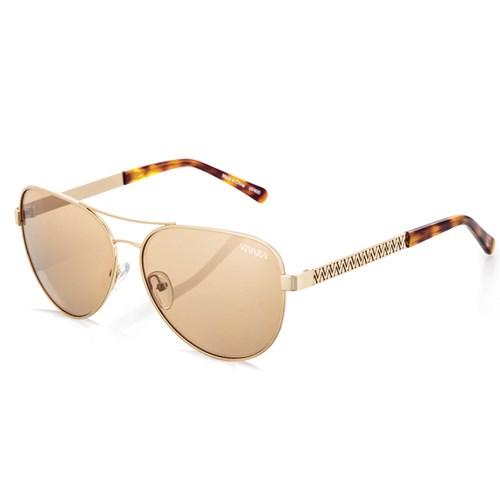 Óculos de Sol Aviador em Aço Dourado bf7c1f2bcb