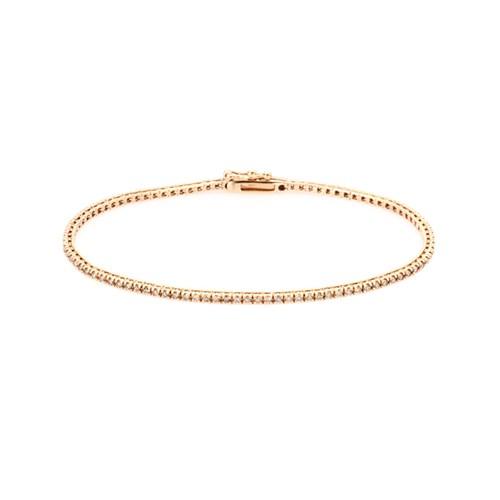 Pulseira Ouro Rosé e Diamantes 17 cm - Colecao CE Riviera 0edf5b2c0e