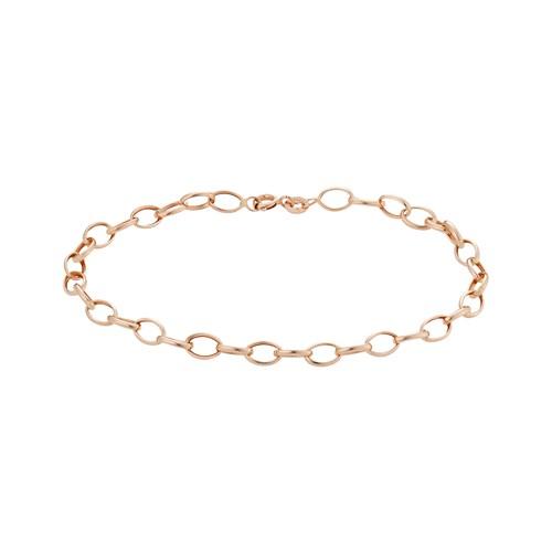 Pulseira Ouro Rosé 18 cm - Colecao Pulseira Ouro 875b645f7b