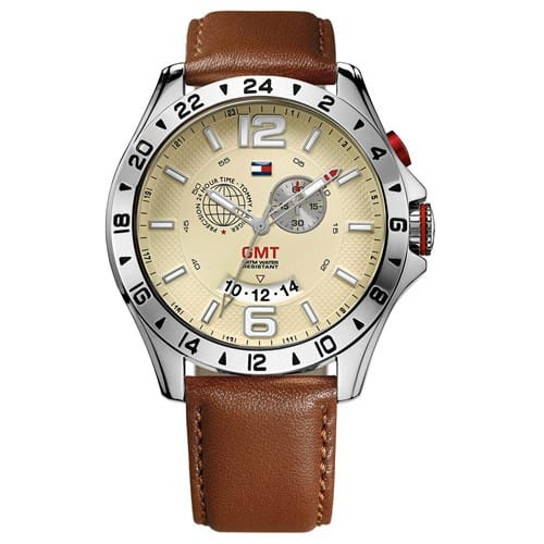 4b137ec8e41c4 Relógio Tommy Hilfiger Masculino Couro Marrom - 1790973